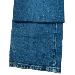 Men's Jean Hem Pinned